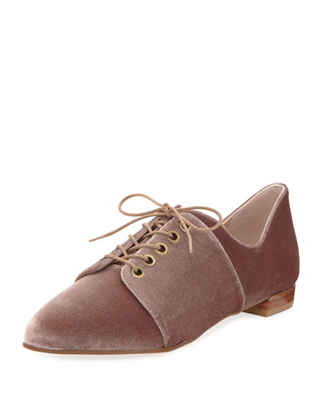 Cello Velvet Oxford Flat