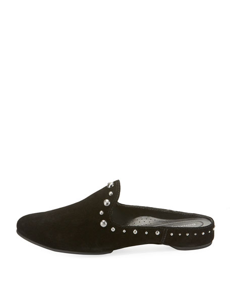 Bazsp Oiled Suede Studded Mule