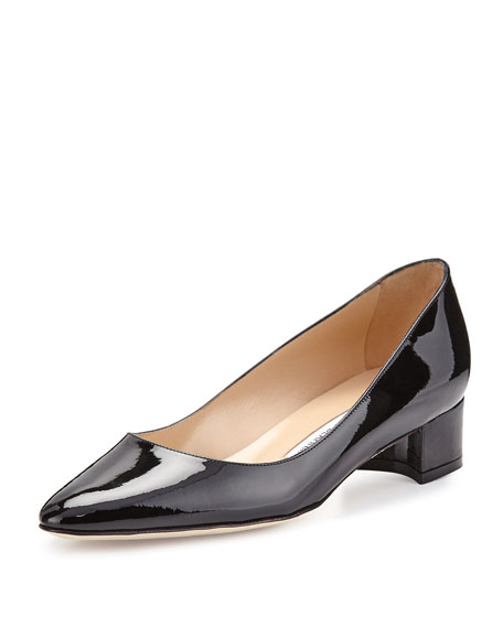 Listony Patent Low-Heel Pump, Black