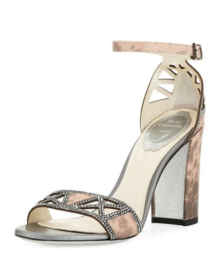 Rene Caovilla Strass Karung Embellished Sandal