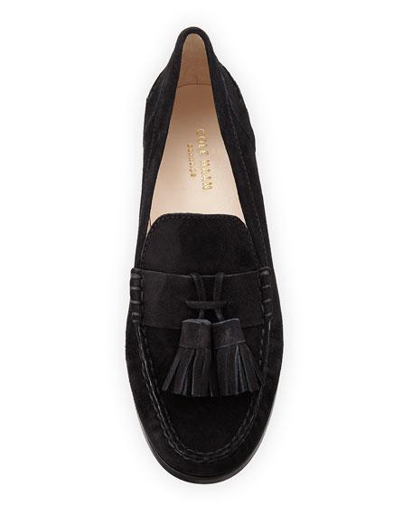 Emmons Tassel Suede Loafer, Black