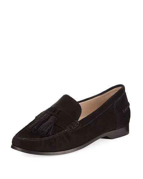 Emmons Tassel Suede Loafer, Black