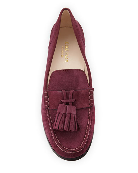 Emmons Tassel Suede Loafer, Purple