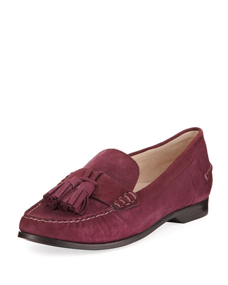 Cole Haan Emmons Tassel Suede Loafer, Purple