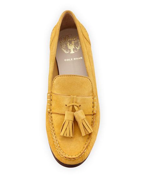 Emmons Tassel Suede Loafer,  Gold