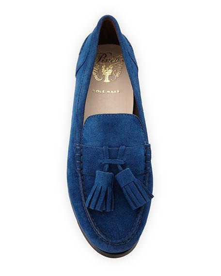 Emmons Tassel Suede Loafer,  Blue