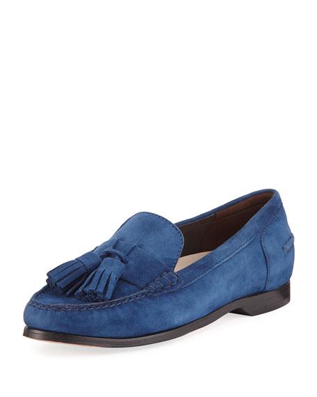 Cole Haan Emmons Tassel Suede Loafer, Blue