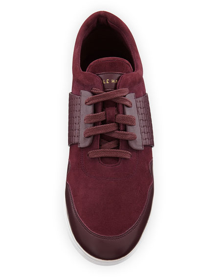Misha Grand Sport Oxford Sneaker, Dark Red