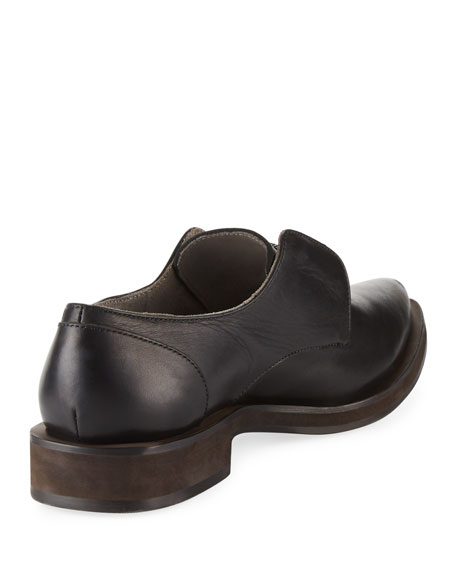 Leather Slip-On Oxford with Monili Keeper