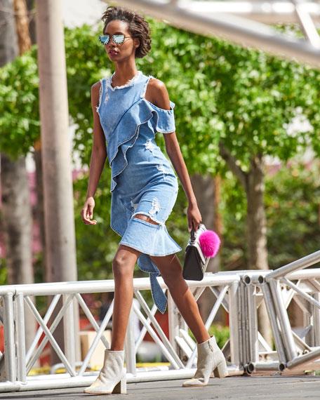 Stuart Weitzman Trendy Sparkle Fabric