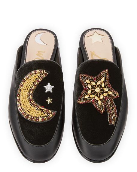 Pemberly Moon & Star Mule Loafer