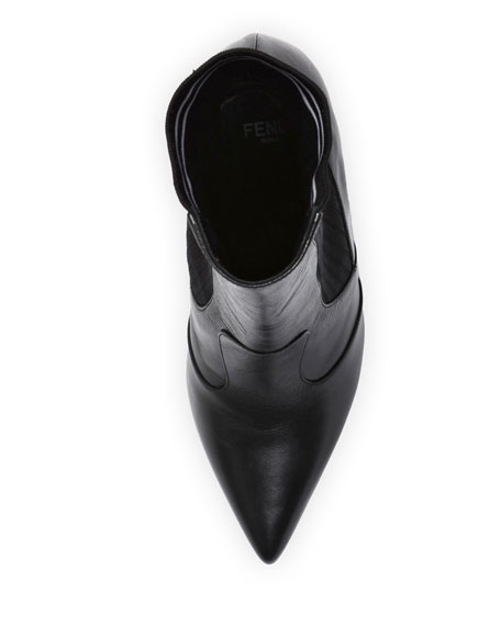 Polished 105mm Sock Bootie, Black