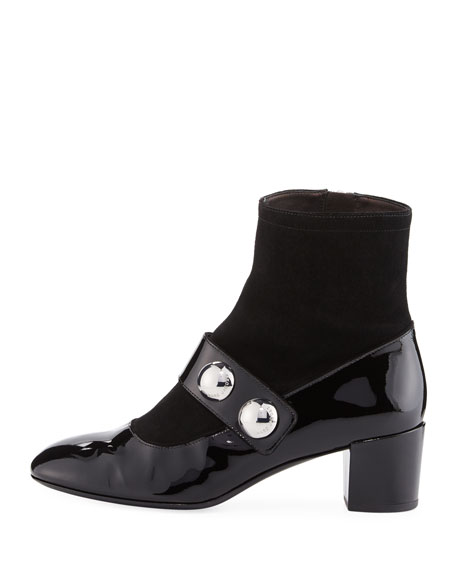 Margaux Cabochon Patent Ankle Boot
