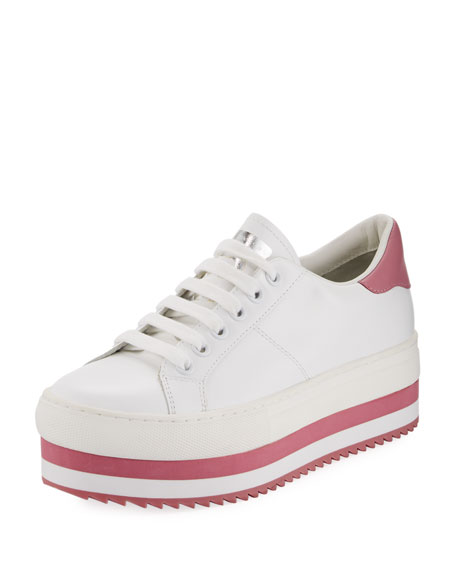 Grand Platform Smooth Leather Low-Top Sneaker