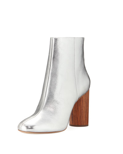 Wilder Metallic Zip Bootie