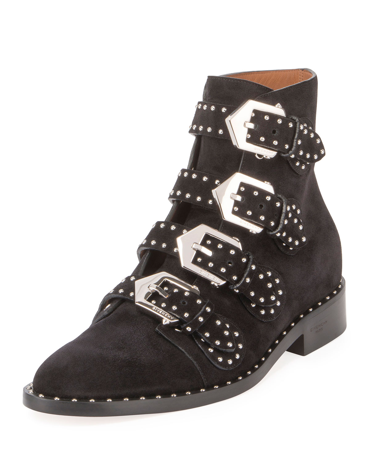 5c8a16a4f95 Givenchy Elegant Studded Suede Ankle Boot
