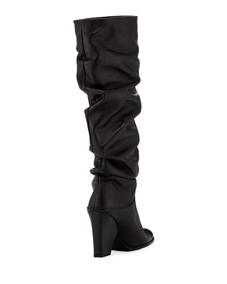 Smashing Leather Knee Boot