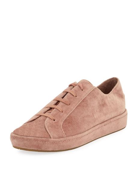 Daryl Velvet Low-Top Platform Sneakers