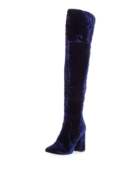 Joie Lalana Velvet 90mm Over-the-Knee Boot
