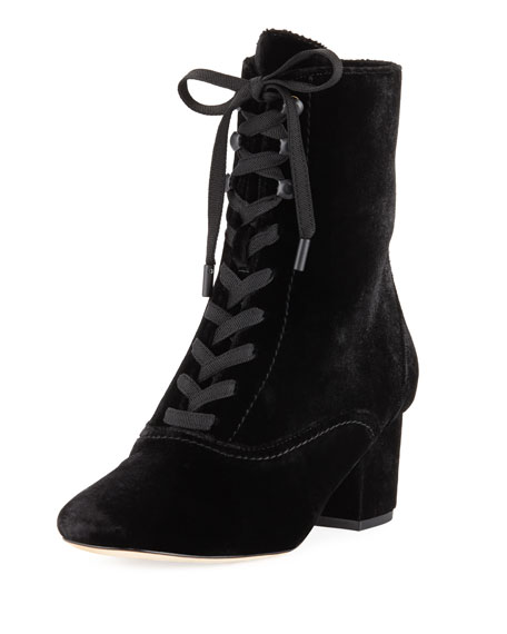Joie Yulia Velvet Lace-Up 50mm Bootie