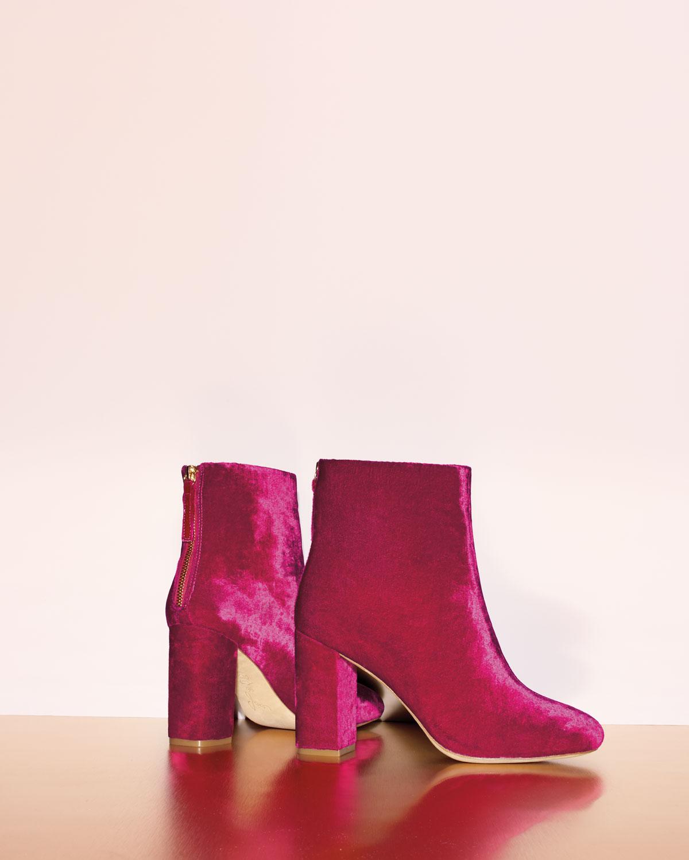 Joie Women's Saleema Velvet Block Heel Booties QZZ5Avc