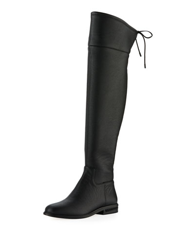 Jamie Flat Over-The-Knee Leather Boot