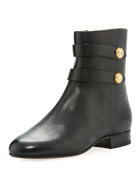 MICHAEL Michael Kors Maisie Flat Leather Button Bootie