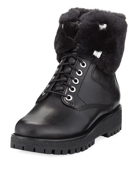 MICHAEL Michael Kors Teddy Shearling Combat Boot