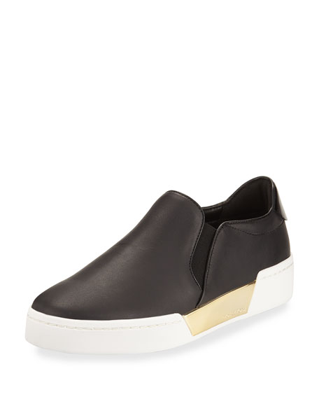 MICHAEL Michael Kors Brenden Leather Slip-On Platform Sneaker