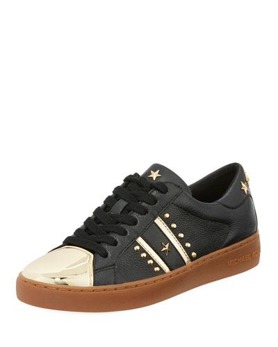 Frankie Metallic-Toe Studded Sneaker