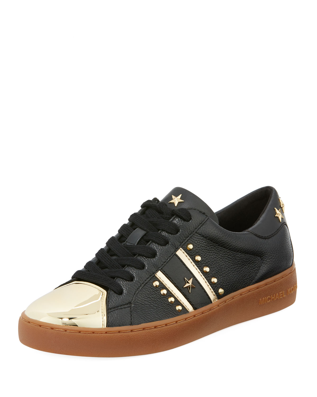 8bf81c291486a MICHAEL Michael Kors Frankie Metallic-Toe Studded Sneaker   Neiman ...