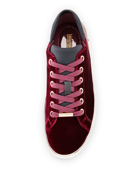 Scout Lace-Up Velvet Sneaker