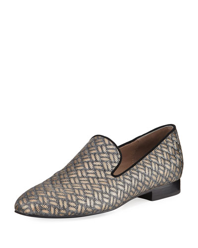 Lyle Woven Leather Slipper