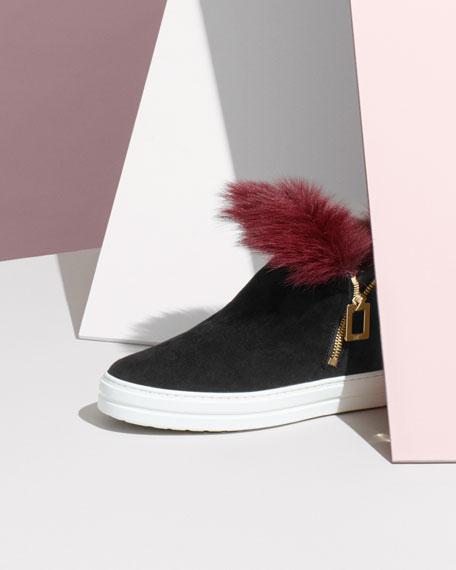 Sneaky Viv High-Top Sneaker with Fur