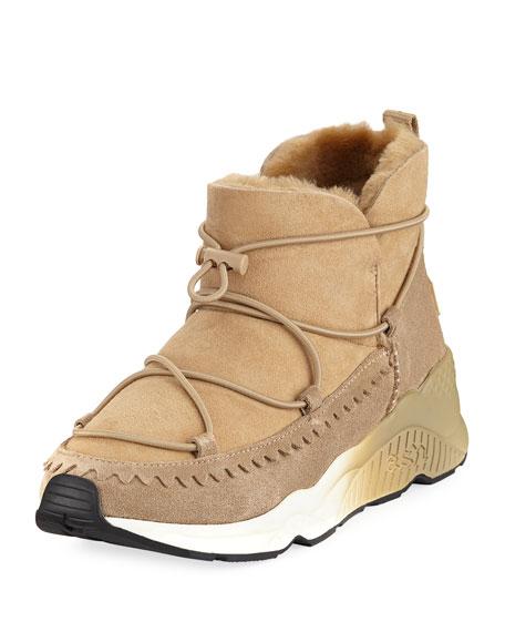 Ash Mitsouko Shearling Suede Sneaker