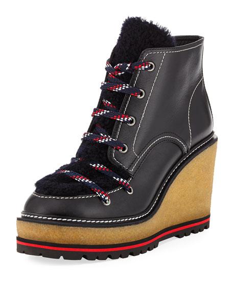 Moncler Zelie Wedge Platform Boot