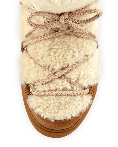 New Fanny Lace-Up Shearling Fur Snow Boot