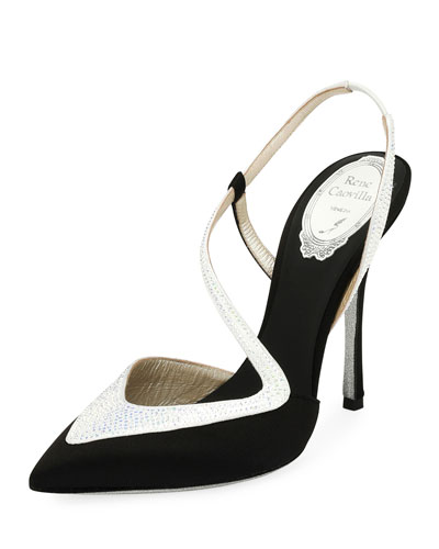Asymmetric Satin 110mm Pump