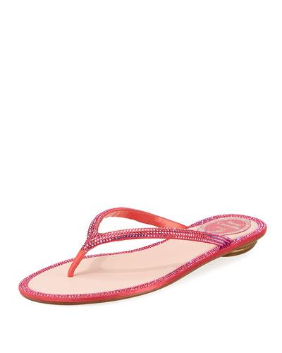 Flat Strass Thong Sandal