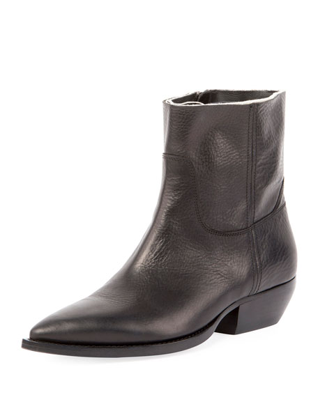 Saint Laurent Theo Eli Leather Zip Ankle Boot