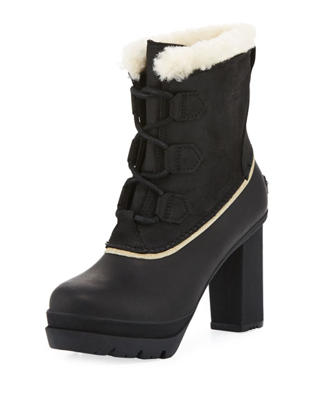 Sorel Dacie Lace-Up Platform Bootie