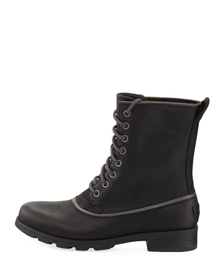 Emelie 1964 Lace-Up Bootie, Black