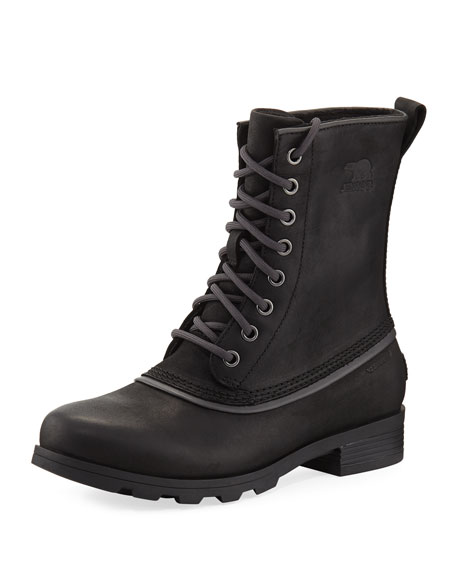 Sorel Emelie 1964 Lace-Up Bootie, Black