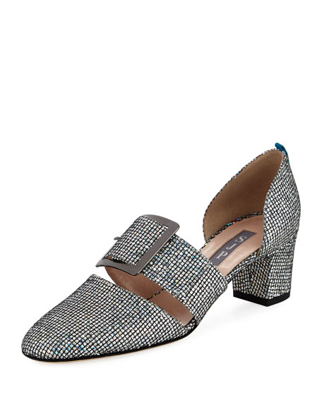 Anahita Iridescent Fabric Two-Piece Pump
