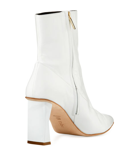 Alexis Stitched Leather Bootie