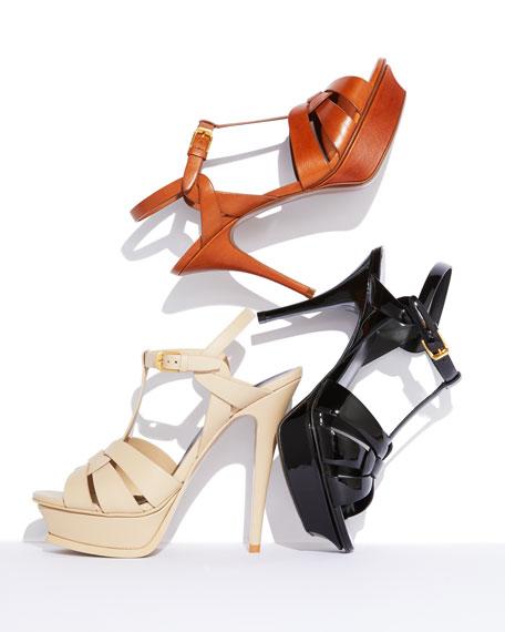 Tribute Leather Platform Sandals