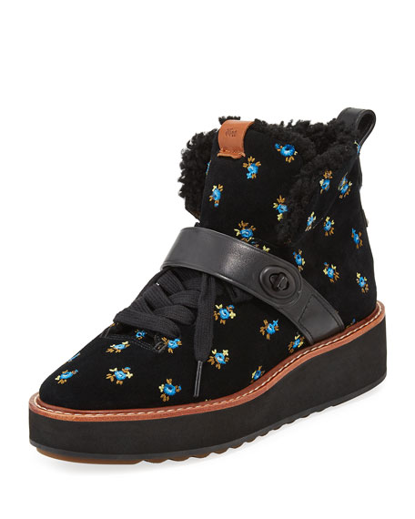 Coach Urban Hiker Prairie Embroidered Suede Boot