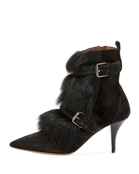Zina Suede Bootie with Fur Trim