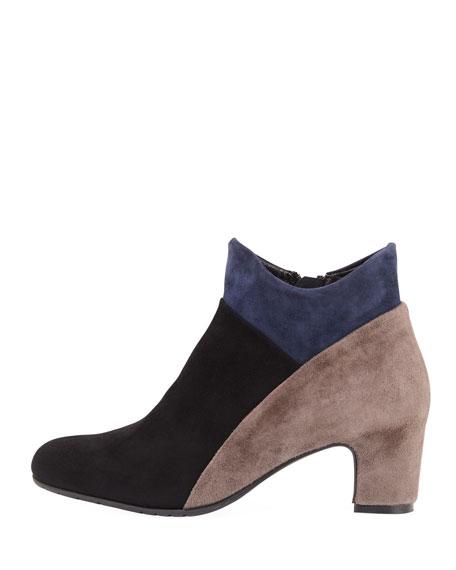 Mallia Colorblock Comfort Boot, Black