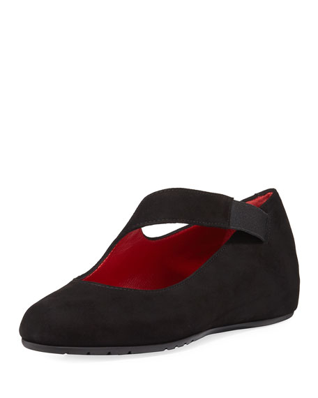 Sesto Meucci Rian Asymmetric Comfort Wedge Flat, Black